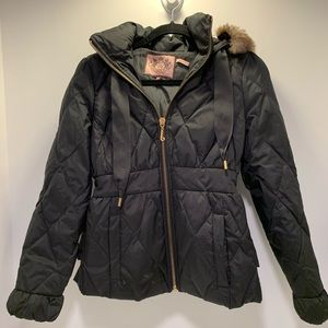 Juicy couture black puffer coat women's small